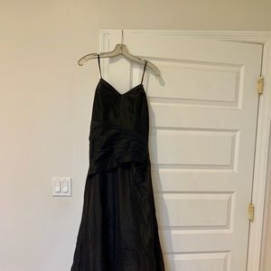 Badgley mischka black strapless bridesmaid